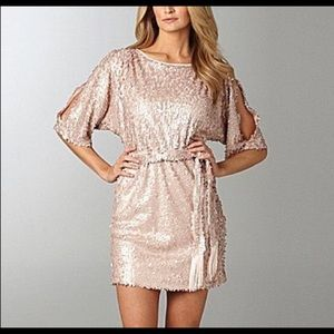 Jessica Simpson Cold Shoulder Sequined Dress 🎀